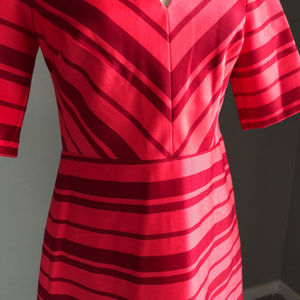 Banana Republic Dresses - NWT Banana Republic Fit n' Flare Red Striped Dress